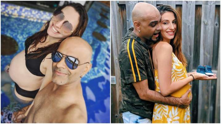 Raghu Ram's picture with pregnant wife Natalie flaunting her baby bump in the pool shouldn't be miss