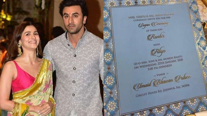 Image result for ranbir Alia Wedding Card