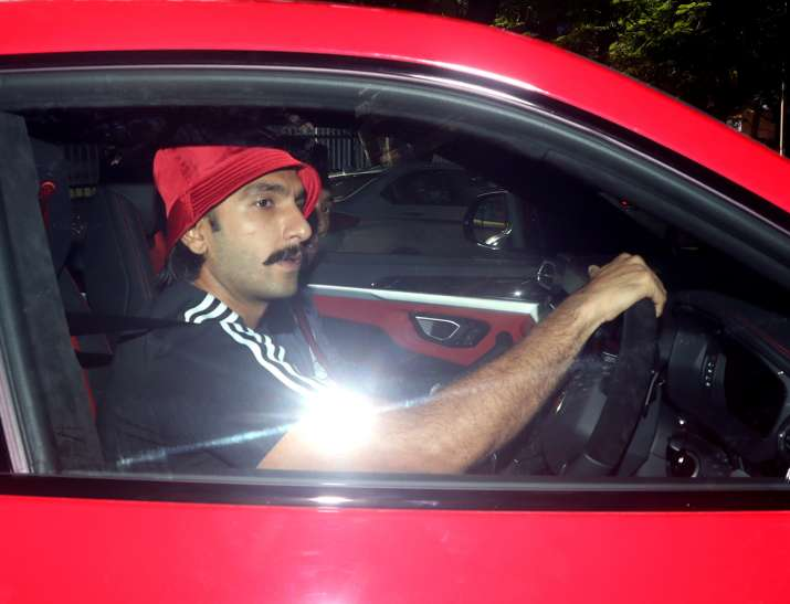 Ranveer Singh takes a ride in his swanky new Lamborghini ...
