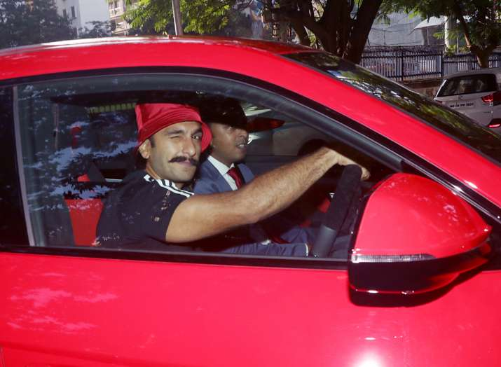 India Tv - Ranveer Singh takes his new car for a spin