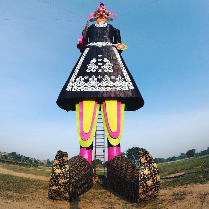 India's tallest Ravana effigy in Chandigarh