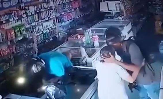 The robbers stole around $240 in cash and a few items