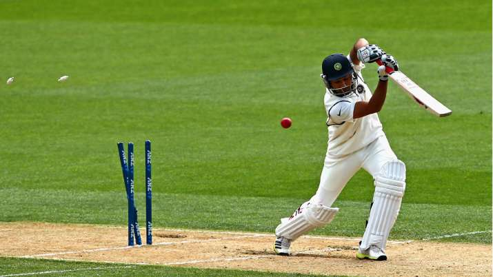 India Tv - Rohit Sharma of India is bowled by Trent Boult of New Zealand during day three of the First Test match between New Zealand and India at Eden Park on February 8, 2014 in Auckland