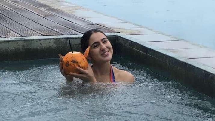 Sara Ali Khan's pool photos from Sri Lanka vacation