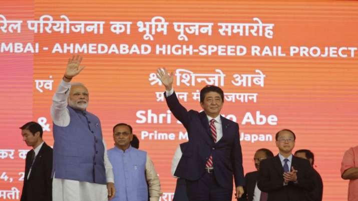 India Tv - PM Modi with Shinzo Abe in Varanasi