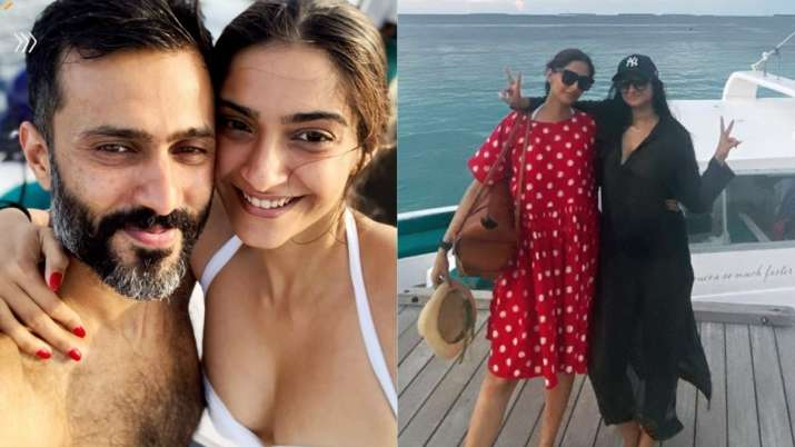 Sonam Kapoor, Anand Ahuja enjoy water slides and yatch rides in Maldives