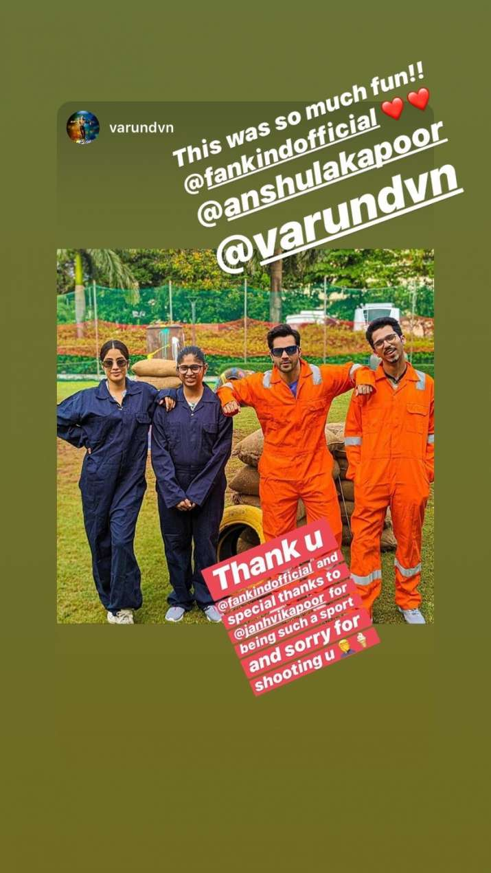 India Tv - Varun Dhawan and Janhvi Kapoor collaborate for a cause