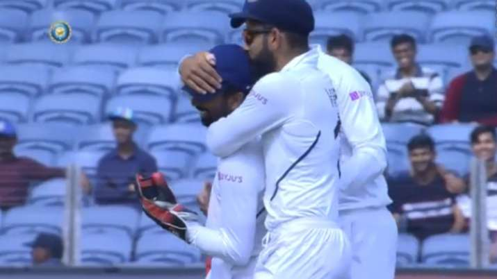 Watch: Virat Kohli's kiss of approval after 'Superman' Saha takes yet another brilliant catch