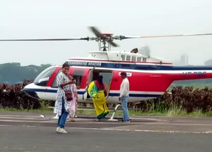Election Commission's flying squad checks NCP MP Supriya Sule's Chopper