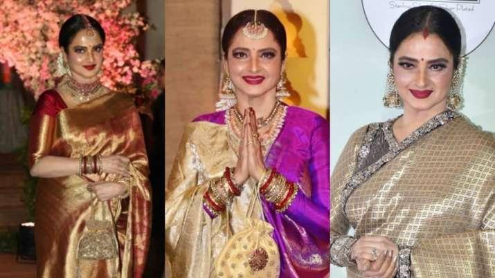 Happy birthday Rekha: 5 timeless saree looks from the