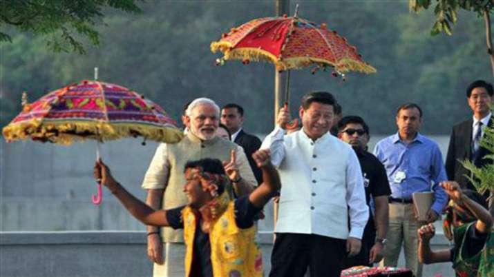 PM Modi with Xi Jinping in Ahmedabad