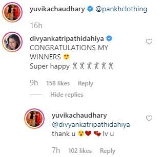 India Tv - Divyanka Tripathi Dahiya's comment on Yuvika Chaudhary's picture