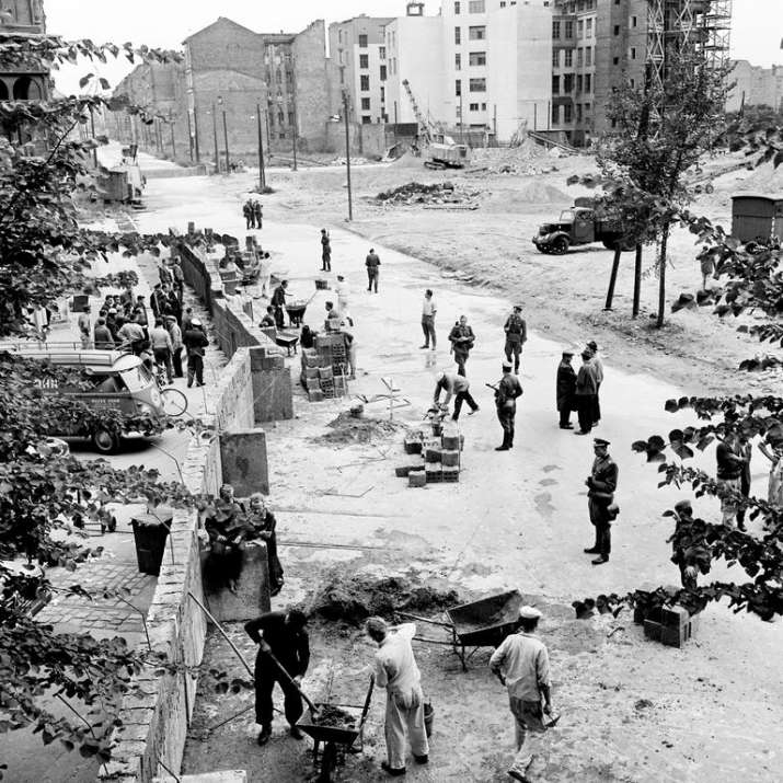 India Tv - The Berlin Wall under construction, 1961.