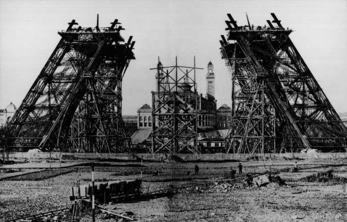 India Tv - The Eiffel Tower under construction.