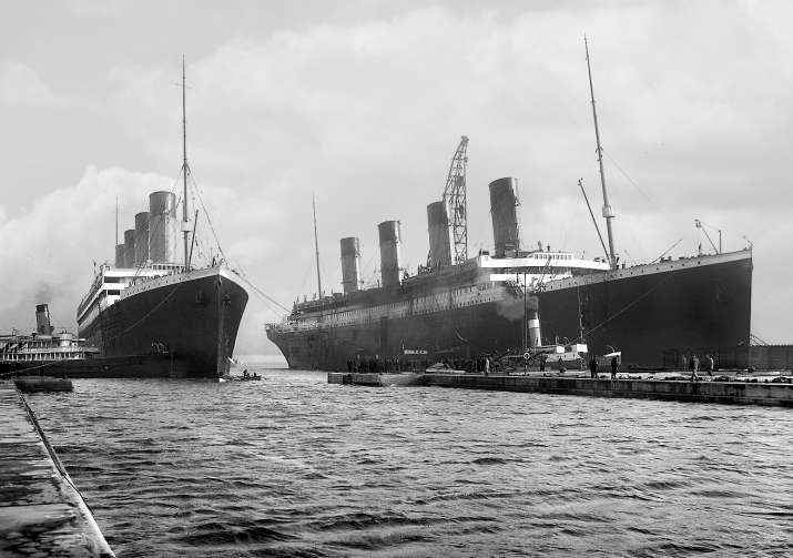 India Tv - The Olympic and the Titanic, 1912.