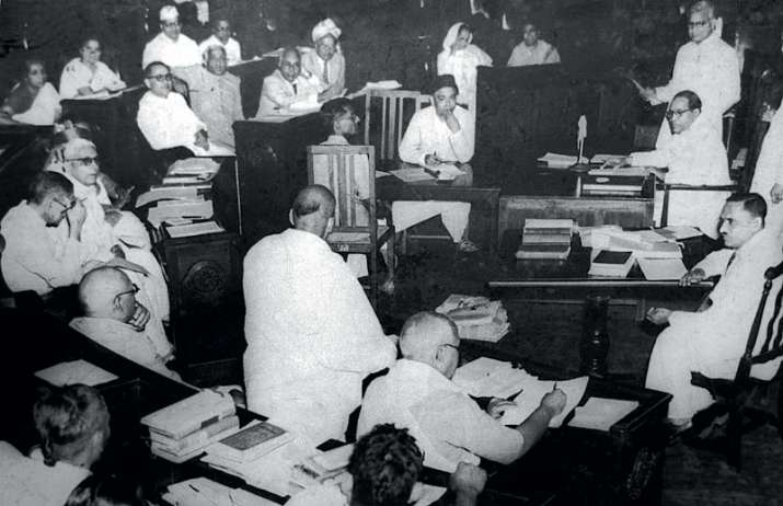 India Tv - B. R. Ambedkar in Constituent Assembly of India.