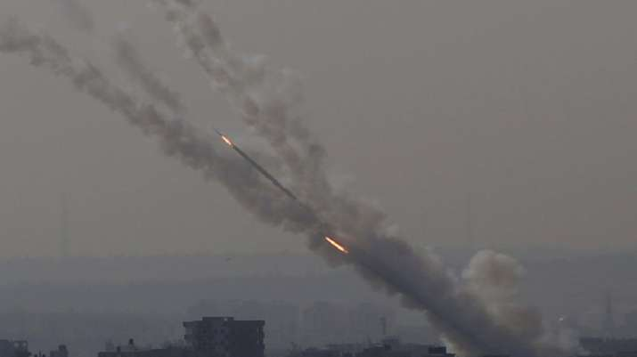 Rockets are launched from Gaza Strip to Israel