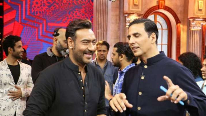 Akshay Kumar wishes 'love and luck' to Ajay Devgn for 100th film