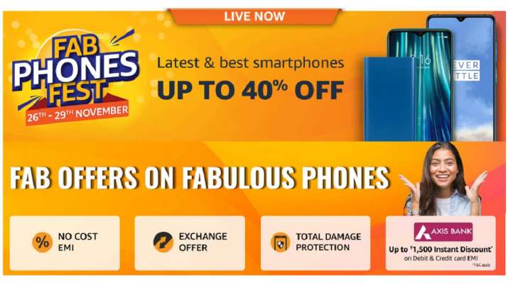 amazon fab phones fest sale november 2019 dates, offers on mobile phones amazon, fab phones fest, am