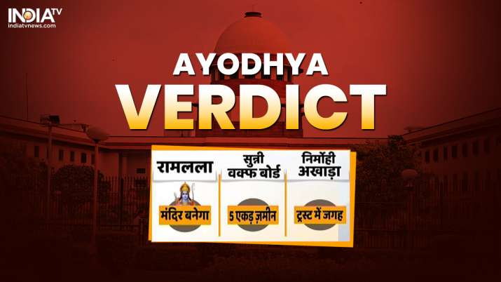Ayodhya verdict: Temple to be built at Ram Janmabhoomi; 5 acre alternate land for mosque