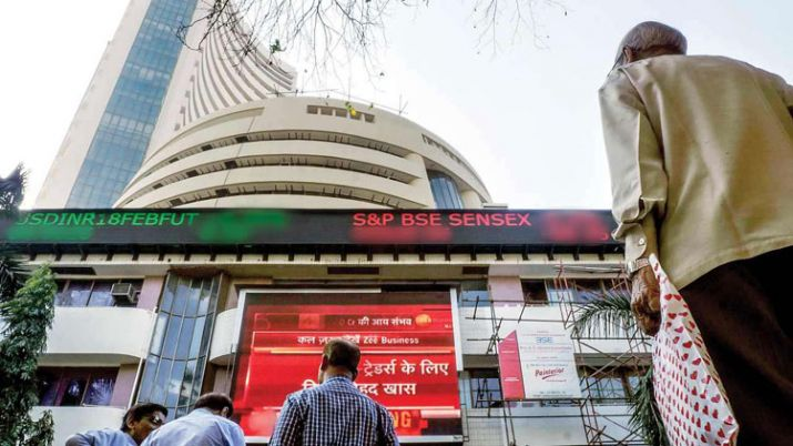 Sensex rises over 200 points; Nifty tests 12,100