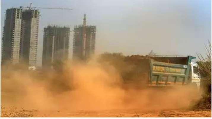 Contruction work pollution in Gr Noida