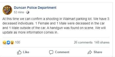 India Tv - Oklahoma police facebook post