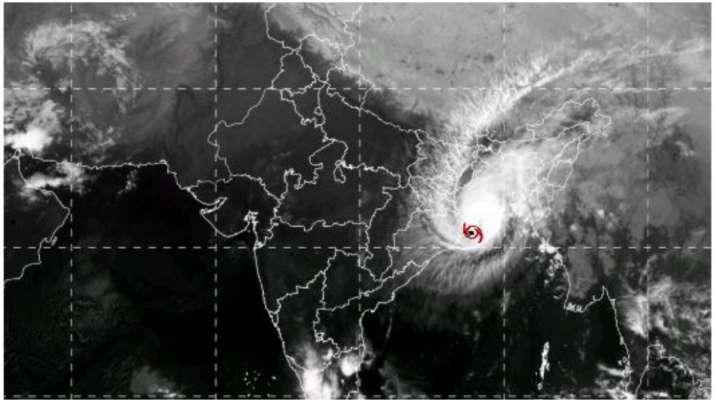 Cyclone Bulbul landfall