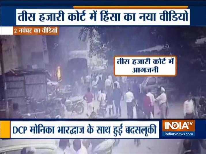 Fresh video of lawyers chasing DCP Monika Bhardwaj at Tis