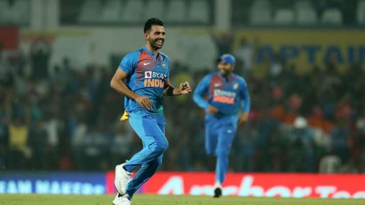 Chahar was the Man of the Match for his figures of 6/7 with the ball India