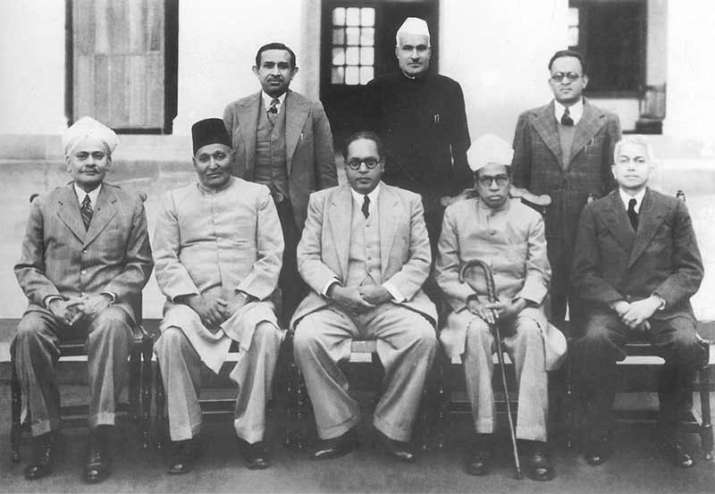 India Tv - Dr. Bhimrao Ramji Ambedkar Chairman, Drafting Committee of the Indian Constitution with other members on Aug. 29, 1947.