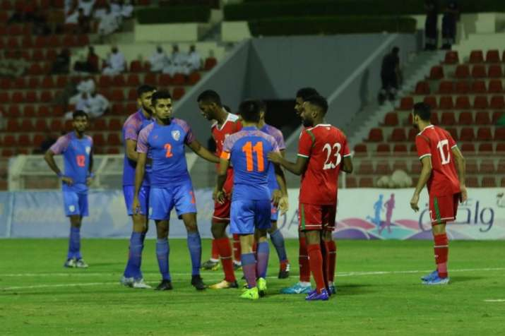 India lose 0-1 to Oman, virtually out of contention for