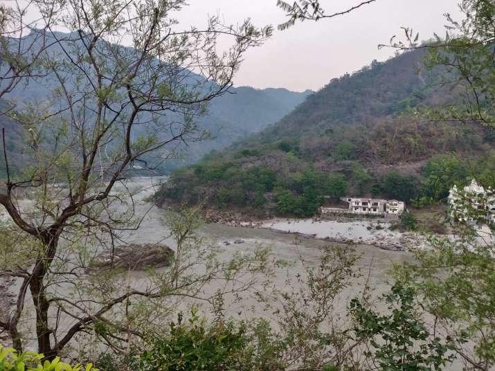 A view of the river Ganga as it leaves the Shivalik ranges