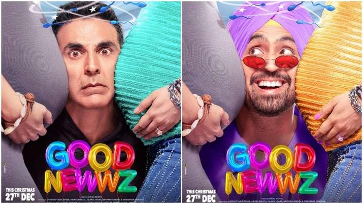Good Newwz Posters: Akshay Kumar, Diljit Dosanjh squeeze in between baby-bumps of Kareena and Kiara