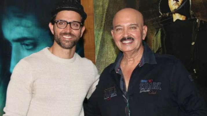 India Tv - Hrithik Roshan with father Rakesh Roshan