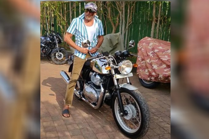 India Tv - Jackie Shroff buys a Royal Enfield Continental GT 650 bike for Rs 3.5 lakh