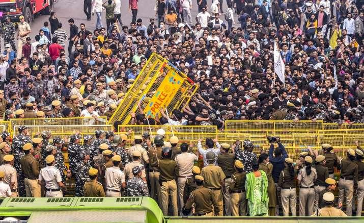 JNU Students protest in Delhi