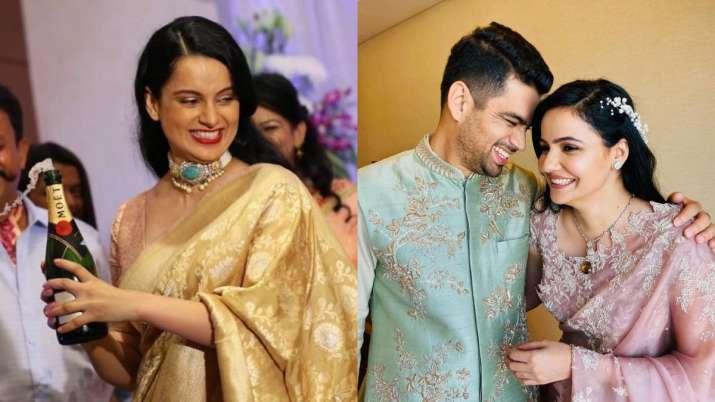 Latest News Kangana Ranaut Dance Pahadi Songs Sister Rangoli Chandel Brother Aksht Engaged Photos vi