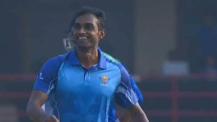 Syed Mushtaq Ali Trophy: Abhimanyu Mithun's fifer powers Karnataka to 8-wicket win over Haryana in s