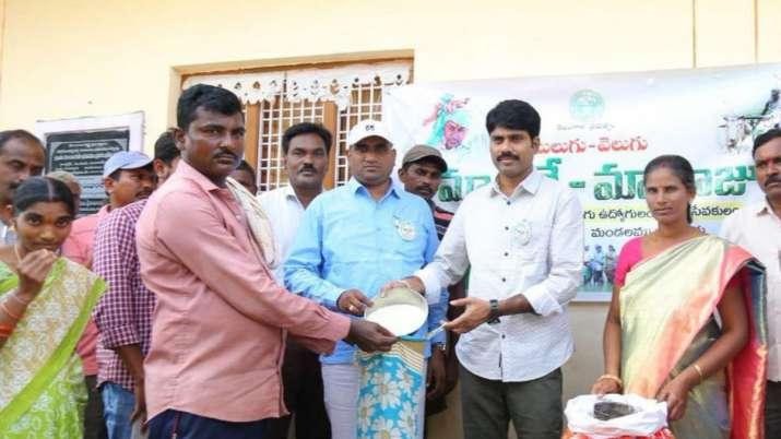 Mulugu DM offers 1 kg rice in exchange of 1 kg plastic waste