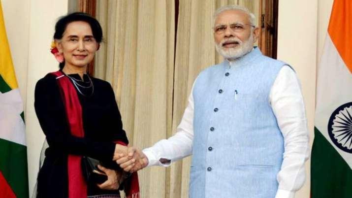 ndian Prime Minister Narendra Modi and Myanmar's State Counsellor Aung San Suu Kyi