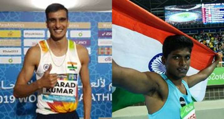 Seasoned high jumper Sharad Kumar claimed the other silver