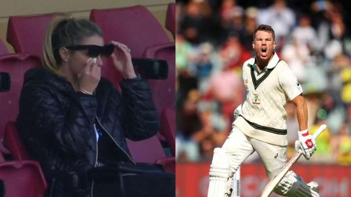 Australia vs Pakistan: Candice Warner in tears after David hits maiden triple ton