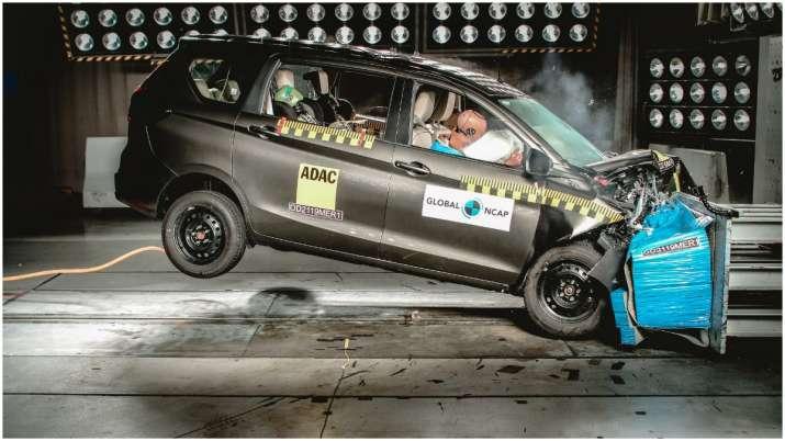 Maruti Suzuki Ertiga gets 3 star safety rating. Watch crash