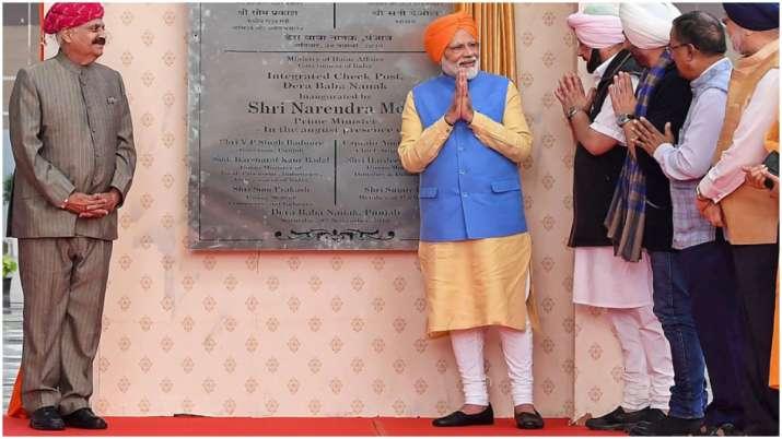 India Tv - Prime Minister Narendra Modi inaugurated the Kartarpur Corridor on the Indian side of the border.