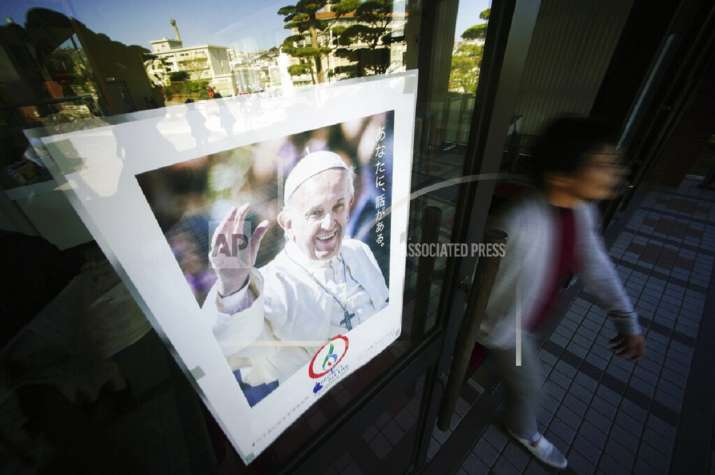 Pope Francis to arrive at Nagasaki in first papal visit to Japan in 38 yrs