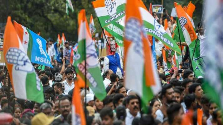 Protest by congress against modi government