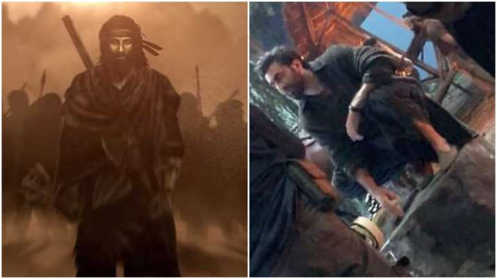 Latest News Shamshera Movie Ranbir Kapoor Look Black Pathani Suit Leaked, Actor Ranbir Kapoor's look