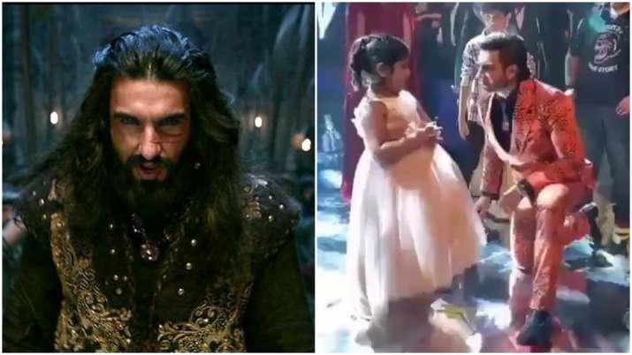 Ranveer Singh wins heart of a little girl as he dances to 'Khalibali' song at a wedding. Watch video