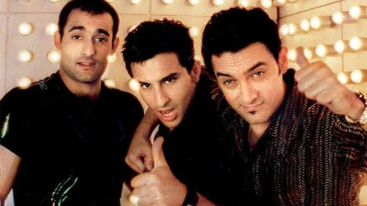 India Tv - Saif Ali Khan, Aamir Khan and Akshaye Khanna in Dil Chahta Hai